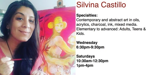 Art Classes, Painting & Drawing with Prof. Silvina Castillo