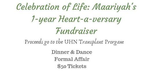 Maariyah's 1-Year Heart-a-versary Fundraiser