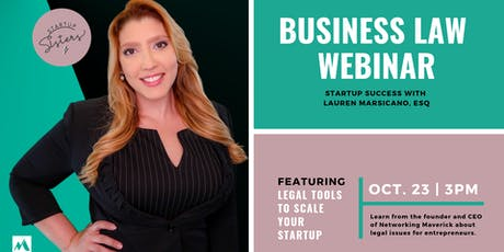 Business Law for Bosses: Legal Tools to Scale Your Startup [Webinar] tickets