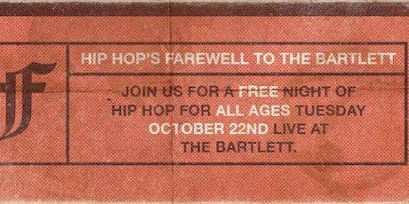 Hip Hop's Farewell To The Bartlett tickets