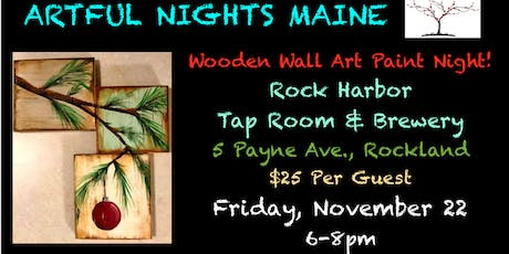 Wooden Wall Art Paint Night at Rock Harbor Tap Room & Brewery tickets