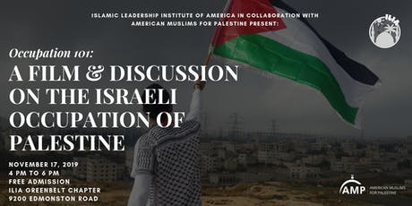 Occupation 101: A Film & Discussion on Israel's Occupation of Palestine tickets