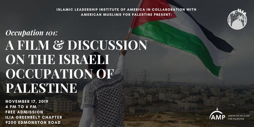 Occupation 101: A Film & Discussion on Israel's Occupation of Palestine