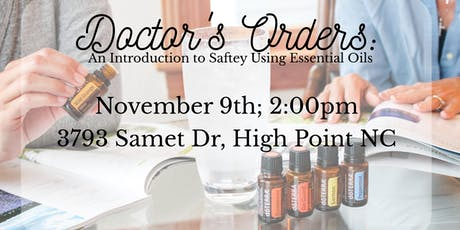 Doctor's orders: an intro to safely using essential oils tickets