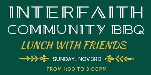 Fall Community Interfaith  Free BBQ