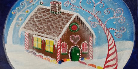 Snow Globe Paint Party at Brush & Cork tickets