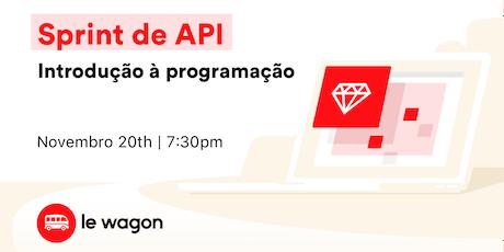 Introdução à programação: Sprint de APIs e Programação ingressos