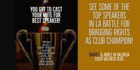 Advanced Speakers of Los Angeles for Toastmasters In-Club Speech Competition tickets