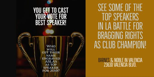 Advanced Speakers of Los Angeles for Toastmasters In-Club Speech Competition
