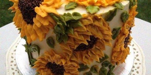 Cake Night - Sunflower Cake Decorating Class