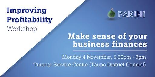 Pakihi Workshop: Improving Profitability - Turangi