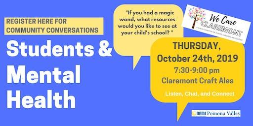 Community Conversation - School Resources - October 24th 2019 7:30pm
