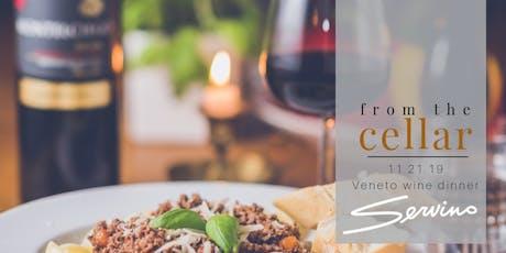 from the cellar: Veneto wine dinner tickets