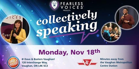 Fearless Voices - Inspirational Speaker Series in York and Peel Region - November 18, 2019 tickets