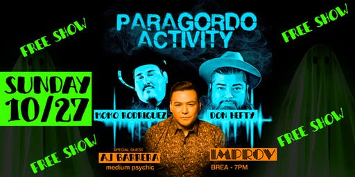 Paragordo Activity Comedy Show with Medium AJ Barrera & Special Guest
