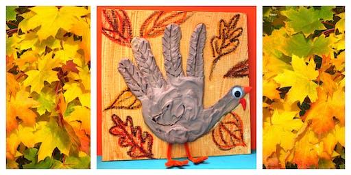 Spirit Night for India Hook Elementary School - Plaster Turkey on Canvas (5-12 Years)