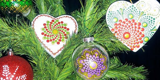 Holiday Ornaments Painting Party at Brush & Cork