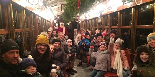Surprise! Santa's on the Trolley
