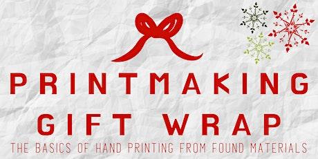Printmaking Gift Wrap tickets