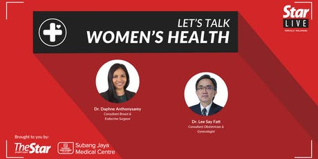 StarLIVE: Let's Talk Women's Health tickets