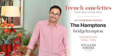 VIP Cookbook Signing with Marc J. Sievers at Williams Sonoma Bridgehampton tickets