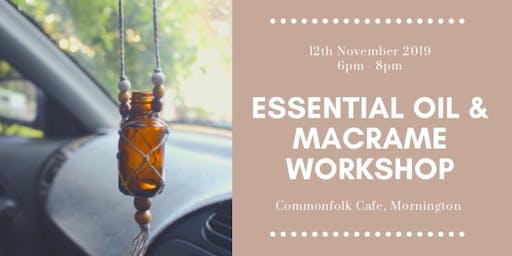 Essential Oil and Macrame Workshop