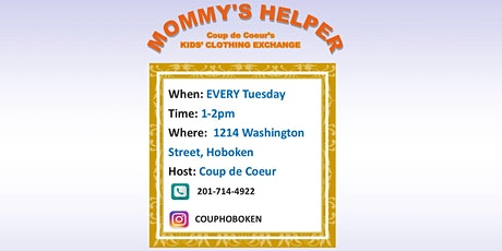 Mommy's Helper: Kids Clothing Exchange tickets