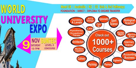 World Uni Expo @ Suntec Sat 9 Nov Level 3  Concourse tickets