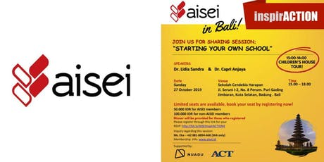 "AISEI InspirACTION ""Starting Your Own School"" tickets"