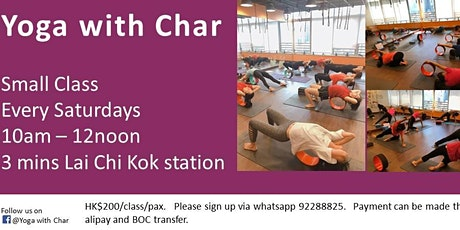 Yoga with Char 瑜伽班 tickets