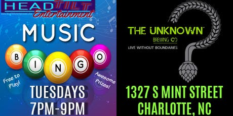 Music Bingo at The Unknown Brewing Company - Charlotte, NC tickets