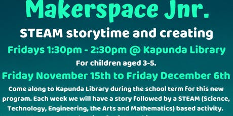 Term 4 Makespace Jnr @ The Kapunda Library tickets