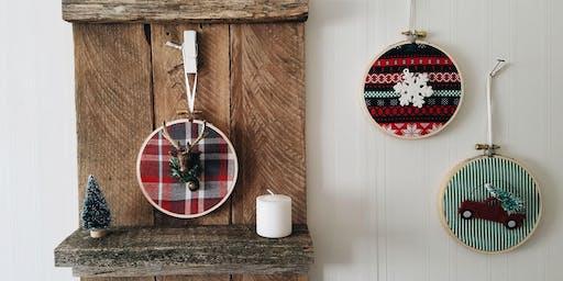 Craft Night - Mini Fabric Ornament Set