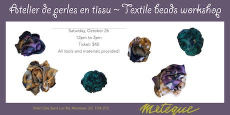 Craft Bijoux: Textile beads tickets