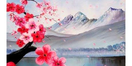 'Cherry Blossoms' Sip & Paint Workshop tickets
