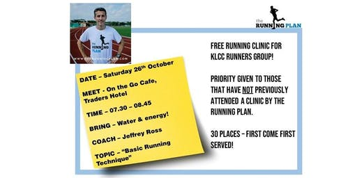 Running Clinic by The Running Plan (Jeff Ross)