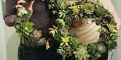 DIY Succulent Wreath @ Sweet Digs