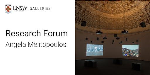 Research Forum: Angela Melitopoulos
