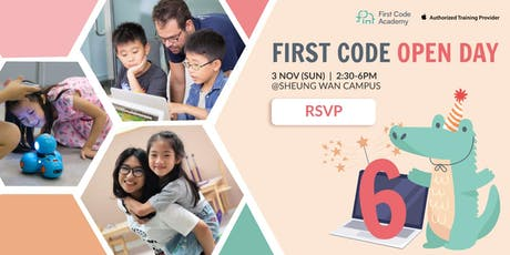 First Code Academy Open Day (3 Nov) tickets