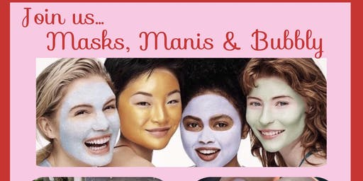 Masks & Manis... prepping for the big day!