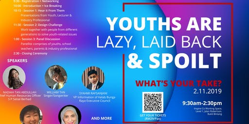 """Youths are lazy, laid back and spoilt"", What's your take on this?"