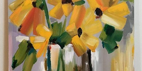 Paint and Sip Workshop 'Yellow Flower'  tickets