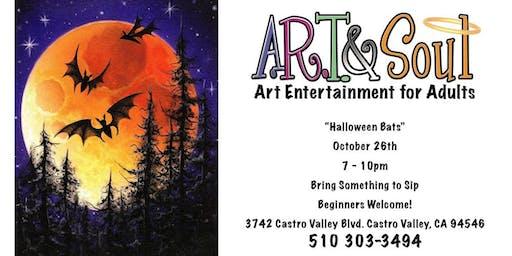 """Paint & Sip: """"Halloween Bats"""""""