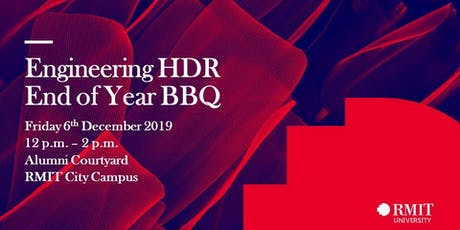 RMIT Engineering HDR End of Year BBQ! tickets