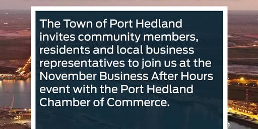 November Business After Hours | Town of Port Hedland