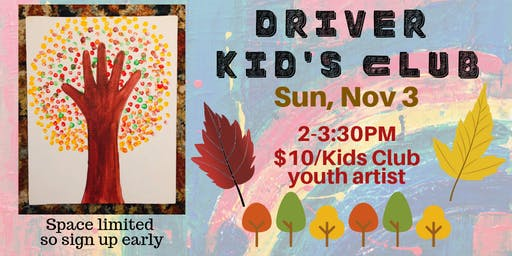 Driver Kids Club- Autumn Handprint Tree