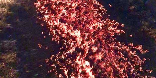 Feuerlauf in Kirchhofen nähe Berlin