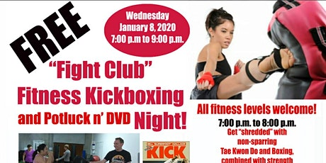 Free Fitness Kick-Boxing, Potluck, and DVD Night tickets