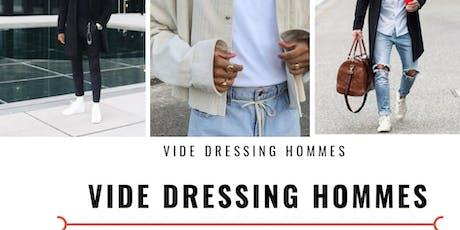 Vide dressing hommes billets