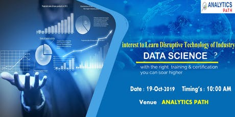 Attend Free Data Science Interactive Session By Analytics path on 19th Oct. tickets